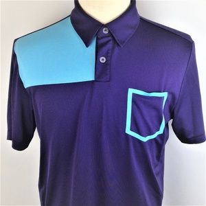 Adidas Mens Blue Short Sleeve Coolmax Golf Polo M